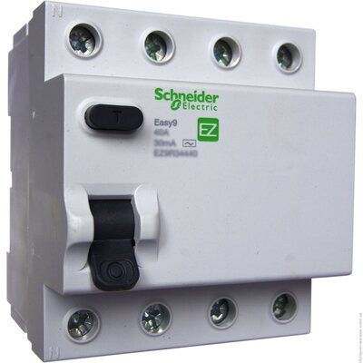 """Schneider electric Дифференциальный выключатель напряжения EZ9, 4Р; 0,03А; 25А; ТИП """"АС"""" (EZ9R34425) цена"""