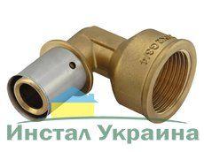 """KAN Отвод Press c пресс-кольцом с внутренней резьбой 25xG3/4"""" K-902003"""