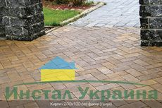 Тротуарная плитка Кирпич Стандартный без фаски (генуя) 200х100 (6 см)