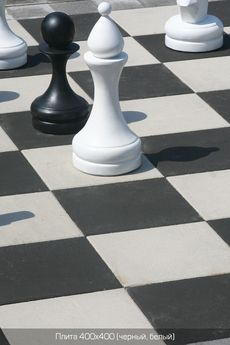 Тротуарная плитка Плита 400х400 (черный) (6 см)