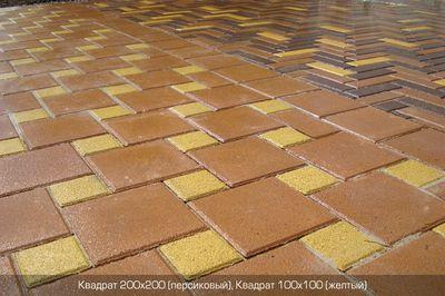 Тротуарная плитка Квадрат Большой 200х200 (персиковый) (6 см) цены