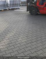 Тротуарная плитка Двойное Т без фаски 140х125 (серый) (7 см)