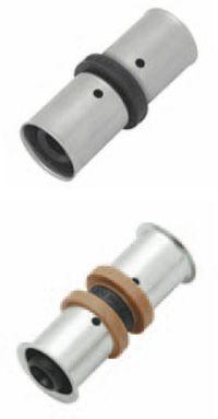 KAN Соединитель PPSU Press двухсторонний c пресс-кольцом 25х25 K-900252