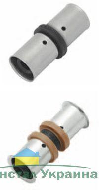 KAN Соединитель PPSU Press двухсторонний c пресс-кольцом 20х20 K-900251