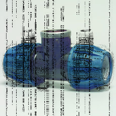 Тройник полиэтиленовый внутренней резьбой DN 75х2 1/2 Rх75