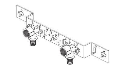 REHAU Монтажный блок VW для скрытого монтажа на фальшстене 16-Rp 1/2 (1 366142 1 001) цена