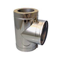 ТРОЙНИК из нержавеющей стали (AISI 304) с термоизоляцией в нержавеющем кожухе 90 град; 1,0 мм ф200/260