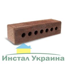 Кирпич Литос узкий колотый тычковой с фаской бордо