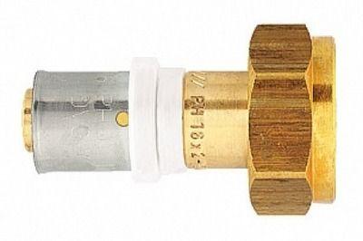 Пресс-переходник с накидной гайкой и евроконусом Herz 20x2 G 3/4 цены