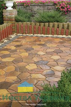 Тротуарная плитка Песчаник (верона) (6 см)