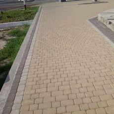 Тротуарная плитка Старая площадь 300х300 (персиковый) для пешеходной зоны (4 см)