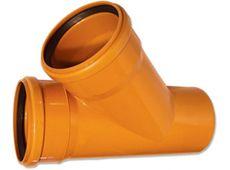 WAVIN EKOPLASTIK Тройник, класс S; 400/400x45 град. (3264508070) для наружной канализации