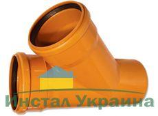 WAVIN EKOPLASTIK Тройник, класс S; 315/200x45 град. (3264509140) для наружной канализации