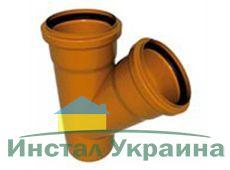 WAVIN EKOPLASTIK Тройник, класс N; 110/110х67 град. (3062422405) для наружной канализации