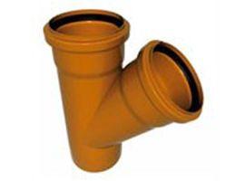 WAVIN Тройник, класс N; 110/110х67 град. (3062422405) для наружной канализации цена