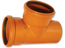 WAVIN EKOPLASTIK Тройник, класс S; 250/200x87 град. (3264550931) для наружной канализации