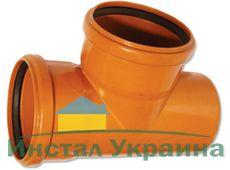 WAVIN EKOPLASTIK Тройник, класс S; 400/250x87 град. (3264550939) для наружной канализации