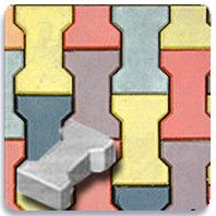 Тротуарная плитка Двойное Т 140х125 (белый) (8 см)