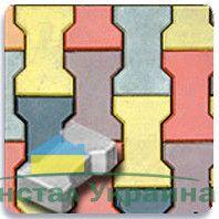 Тротуарная плитка Двойное Т без фаски 140х125 (желтый) (7 см)