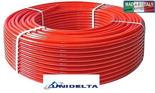 Труба Unidelta Triterm Rosso Pex/EVOH 16x2