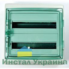 Schneider electric Щит навесной 2 ряда 36 модулей прозрачные двери IP65 (13984)