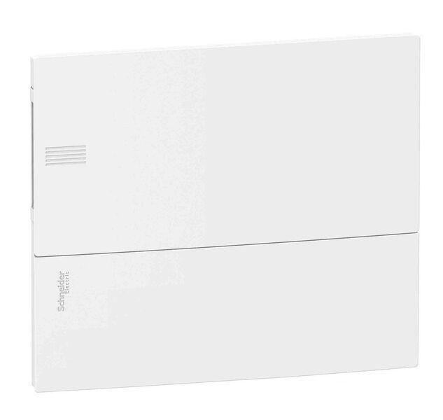 Schneider electric Щит встроеный MINI PRAGMA 1 ряд 12 модулей белые двери (MIP22112)