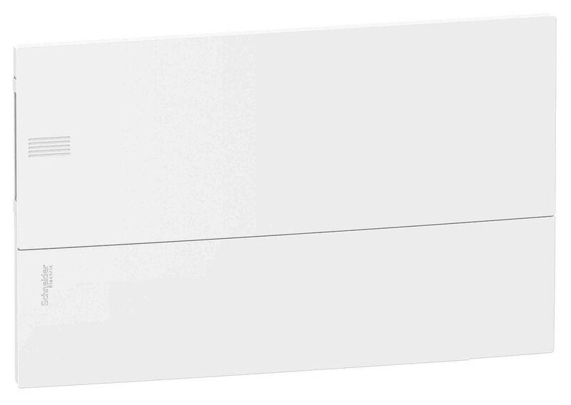 Schneider electric Щит встроеный MINI PRAGMA 1 ряд 18 модулей белые двери (MIP22118)