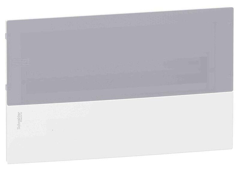 Schneider electric Щит встроеный MINI PRAGMA 1 ряд 18 модулей дымчатые двери (MIP22118T)