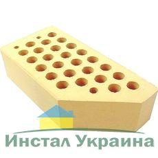 Кирпич керамический лицевой фасонный ЦФ-3 желтый