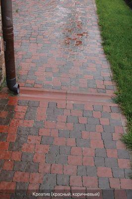 Тротуарная плитка Креатив (красный) (6 см) цены