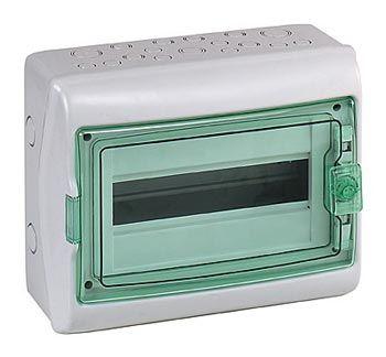 Schneider electric Щит навесной 1 ряд 12 модулей прозрачные двери IP65 200х267х112 мм (13979) цена