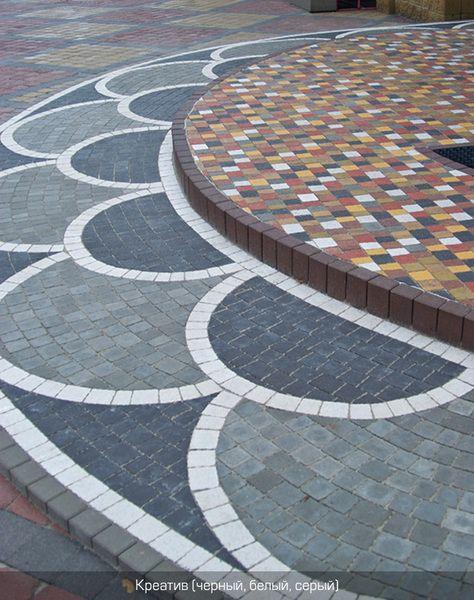 Тротуарная плитка Креатив (серый) (6 см)