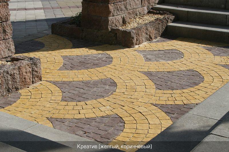 Тротуарная плитка Креатив (желтый) (6 см)
