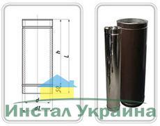ТРУБА из нержавеющей стали (AISI 321) с термоизоляцией в оцинкованной стали 1,0 мм; L=300 мм ф220/280