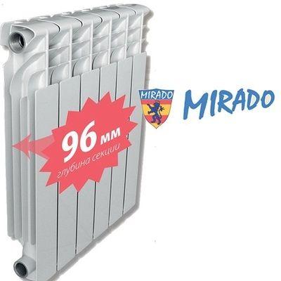 Радиатор алюминиевый Mirado 500/ 96мм цена
