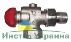 Термостатический клапан Herz Герц угловой осевой TS-90 1/2