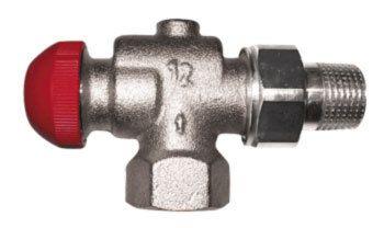 Термостатический клапан Herz Герц угловой осевой TS-90-V 1/2