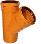 Interplast тройник 110/110-45° для наружной канализации