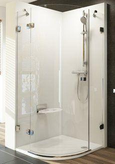 Душевой уголок Brilliant BSKK3-100 R правосторонняя хром+Transparent
