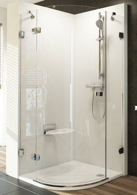Душевой уголок Brilliant BSKK3-80 L левосторонняя хром+Transparent цена