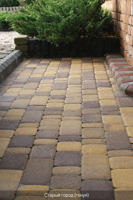 Тротуарная плитка Старый город (серый) (8 см) цена