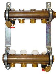 Коллектор Herz для теплого пола без расходомера 12-ходовой