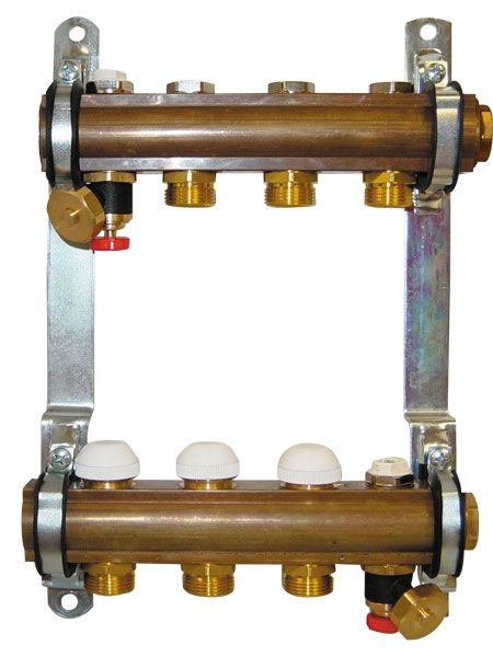 Herz комплект штанговых распределителей для напольного отопления 7-ходовой (1 8534 07)