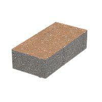 Тротуарная плитка Кирпич Стандартный без фаски (коричневый) 200х100 (6 см)