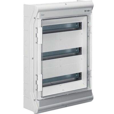 HAGER Щит навесной Vector 3 ряда 54(60) модулей прозрачные двери IP65 (VE318DN) цена