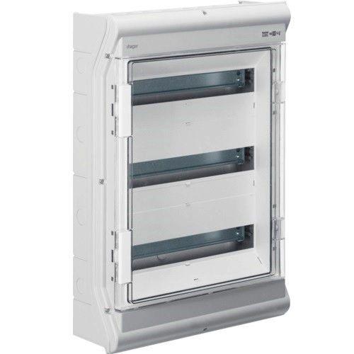 HAGER Щит навесной Vector 3 ряда 54(60) модулей прозрачные двери IP65 (VE318DN)