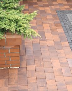 Тротуарная плитка Плац (коричневый) (6 см)