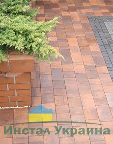 Тротуарная плитка Плац (красный) (6 см)