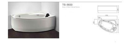Акриловая ванна Appollo TS-9033 1700 x 1180 x 670 цена