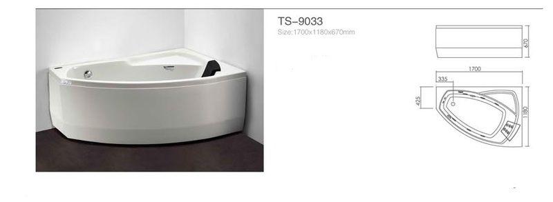 Акриловая ванна Appollo TS-9033 1700 x 1180 x 670